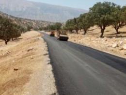 عملیات روکش آسفالت قلعه رئیسی به دیشموک +تصاویر