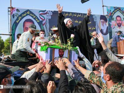 مراسم تشییع شهید نظم و امنیت سرگرد مهدی آزمون/گزاش تصویری