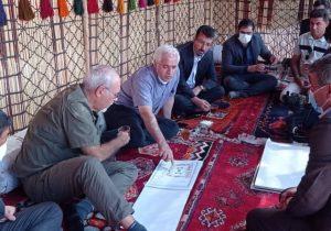 بازدید کارشناس ارزیاب یونسکو از کاروانسرای دهدشت/گزارش تصویری